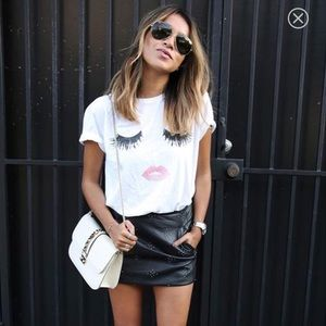 {sincerely jules} lips & lashes tee shirt small